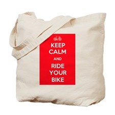 Keep Calm and Ride Your Bike Red Tote Bag