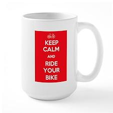 Keep Calm and Ride Your Bike Red Mug
