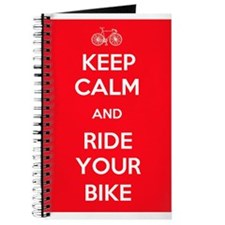 Keep Calm and Ride Your Bike Red Journal