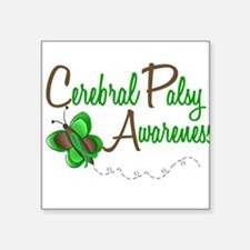 CP Awareness 1 Butterfly 2 Square Sticker
