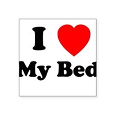 My Bed Square Sticker