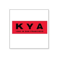 KYA San Francisco 1960 - Square Sticker