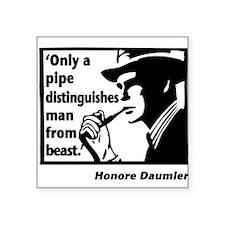 Pipe Smoker I Square Sticker