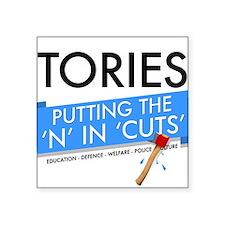 Tory Cuts Square Sticker