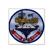 USS CORAL SEA Square Sticker