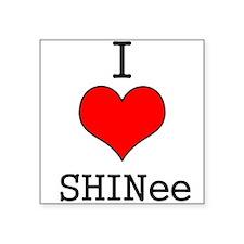 """I Heart SHINee"" Square Sticker"