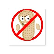 Peanut-Free Cartoon Square Sticker