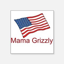 Mama Grizzly Square Sticker