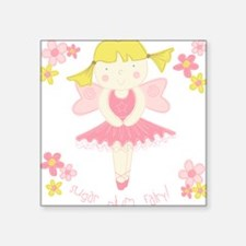 Sugar Plum Fairy Flower Square Sticker