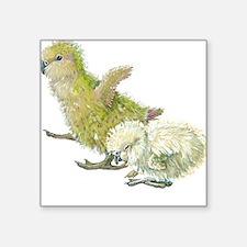Kakapo Chicks Square Sticker
