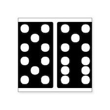 21 Dominoes Square Sticker