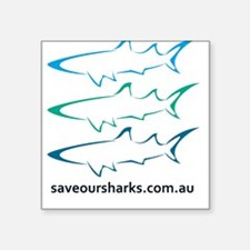 Save Our Sharks Square Stickers