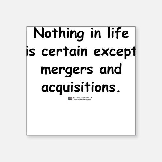 Mergers and Acquisitions - Square Sticker