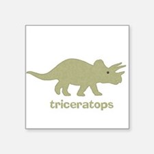 Triceratops Square Sticker