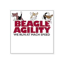 Beagle Agility Square Sticker