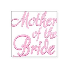 Amore Mother Bride Pink Square Sticker