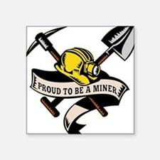 coal miner mining Square Sticker