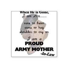 Proud Army Mom-In-Law Square Sticker