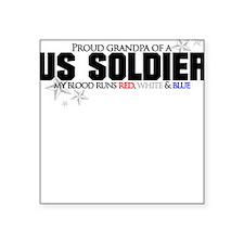 Red, white & blue Army Grandp Square Sticker