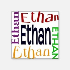Ethan's Color Block Square Sticker