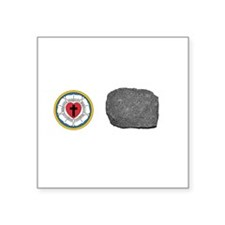 Lutherans Rock Square Sticker
