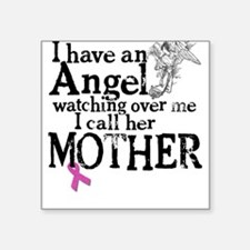 Breast Cancer Mother Angel Square Sticker