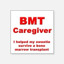 BMT Caregiver Square Sticker