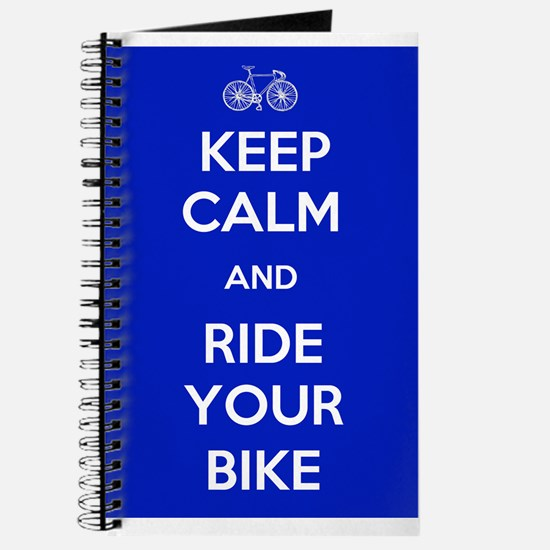 Keep Calm and Ride Your Bike Blue Journal