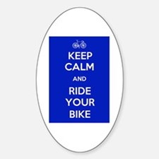 Keep Calm and Ride Your Bike Blue Decal