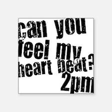 2PM Heartbeat Square Sticker