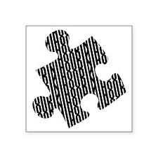 Houdini Puzzle Colored Square Sticker, Black Desig