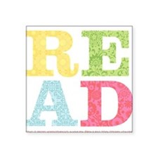 read Square Sticker