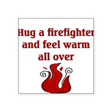 Fireman Square Sticker