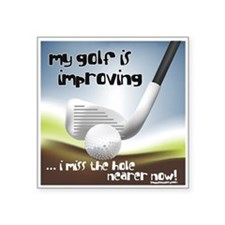 Golf Improving Square Sticker