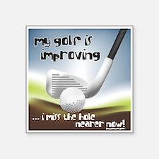 Golf Improving Square Sticker