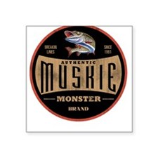 MONSTER MUSKIE BRAND Square Sticker