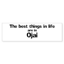 Ojai: Best Things Bumper Car Sticker