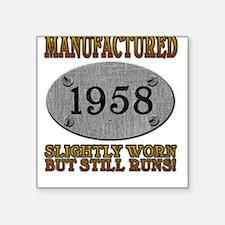 Manufactured 1958 Square Sticker