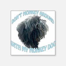 Monkey Dog Square Sticker