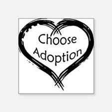 Adoption Square Sticker