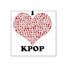 I <3 KPOP! Square Sticker