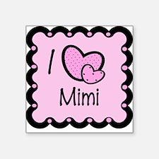 I Love Mimi Square Sticker