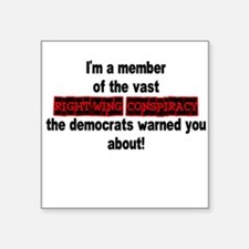 RIGHT-WING CONSPIRACY Square Sticker