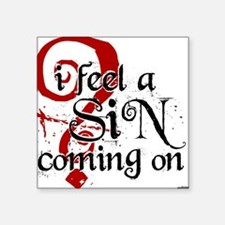 Sin Square Sticker