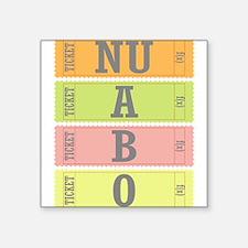 f(x) NU ABO Square Sticker