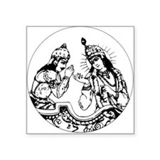 Arjuna-Krishna Square Sticker