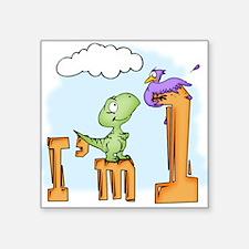 Dinosaur Fun 1st Birthday Square Sticker