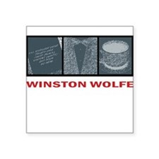 Winston Wolfe Square Sticker