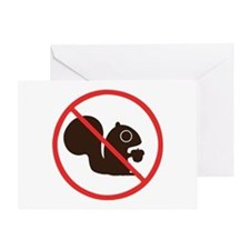 No Squirrels Greeting Card