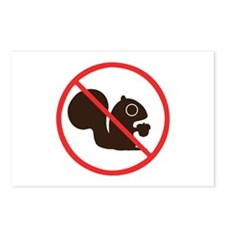 No Squirrels Postcards (Package of 8)